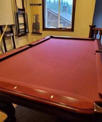 Thomas Aaron Slate Pool table and Accessories (SOLD)