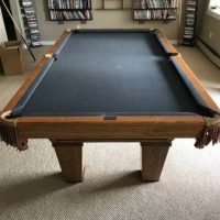 Brunswick Oak Pool Table