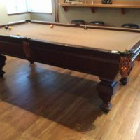 Beautiful Brunswick 1907 Pool Table