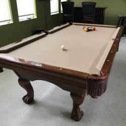 8ft Brunswick Pool Table with Ping Pong Table Top